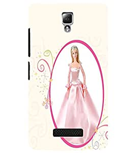 PrintDhaba Cute Barbie Doll D-1079 Back Case Cover for LENOVO A2010 (Multi-Coloured)