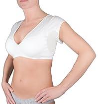 Vee Crop Top Undershirt: Heavy Underarm Dress Shields (Medium, White)