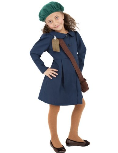 Child World War II Evacuee Girl Halloween Costume