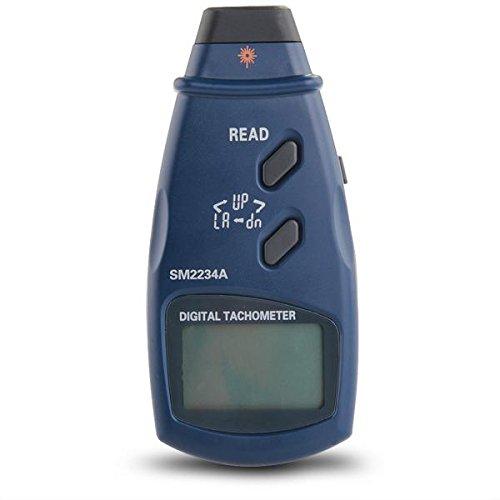 Digital Photo Tachometer Sm-2234A Non-Contact Tach 99999 Rpm Lcd Display
