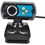 DATON HD 8.0 Mega Pixel USB 2.0 3 LED Webcam Web Cam Camera With Mic Microphone 360 Degrees Rotation For PC Computer...