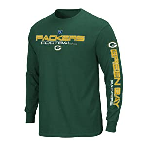 Green Bay Packers Majestic Primary Receiver III Long Sleeve Green T-Shirt by VF LSG