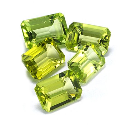 6x4 mm-2.07 Cts Loose Peridot ( Emerald-AA )
