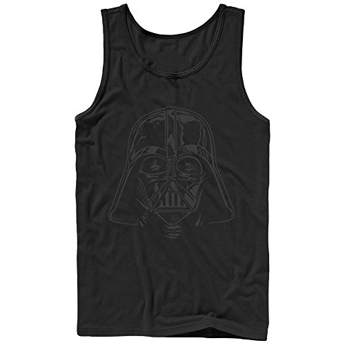 Star Wars Darth Vader Helmet Mens Graphic Tank Top - Fifth Sun