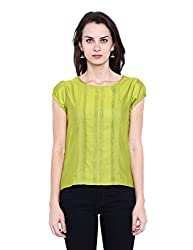 Fabindia Women's Body Blouse Shirt (10425409_Lime_Medium)