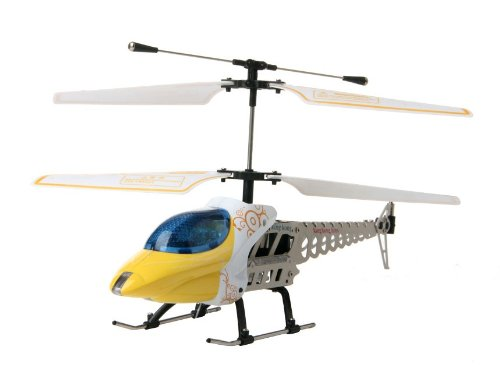 816 3.5-Channel Aluminium Alloy RC Helicopter (Yellow)