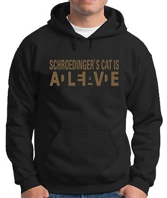 Schroedingers à Pour Cat Touchlines Homme Sweat Wanted Shirt Capuche v6nP7dqw7