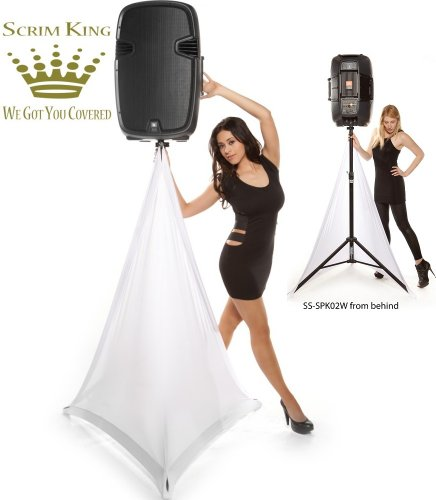 Scrim-King Ss-Spk02-W Double Sided Speaker Stand Scrim White