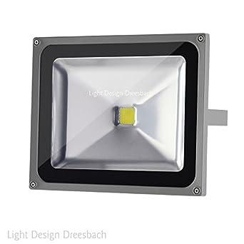 led fluter strahler scheinwerfer flutlicht aussen ip65 cob 4000 lumen 50 watt 6000 kelvin. Black Bedroom Furniture Sets. Home Design Ideas