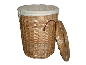 Round wicker laundry basket 44cm diameter kitchen home - Diametre cercle basket ...