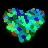 250g ca. 100 St. Bunt Leuchtsteine Leuchtkiesel leuchtende Kiesel Aquarium