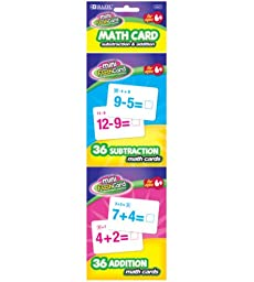 BAZIC Addition and Subtraction Mini Flash Card, 36 Count (2 Per Pack)
