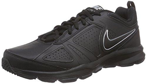 Nike T-Lite Xi- Scarpe fitness uomo, colore nero (black/black-metallic silverblack/black-metallic silver), taglia 44 1/2 EU (9.5 UK)