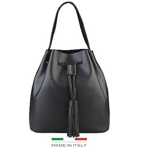 Made In Italia Ester, Borsa a spalla donna nero nero