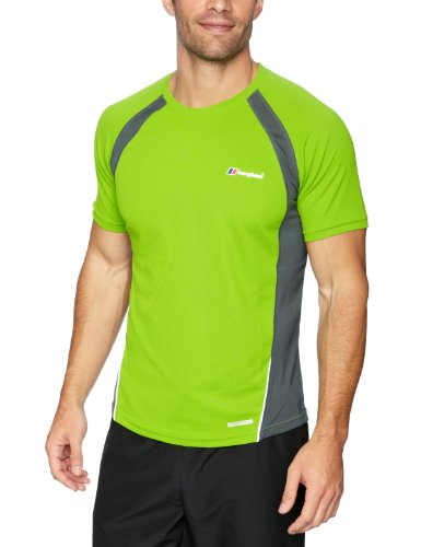 Berghaus Men's Active Short Sleeve Zip Baselayer (Infinity)