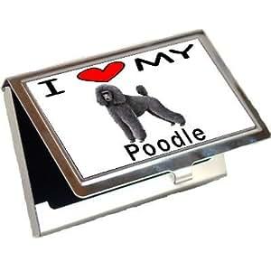 I Love My Poodle Business Card Holder
