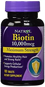 Natrol Biotin 10,000 mcg Maximum Strength Tablets, 600 Tablet (Max Strength)