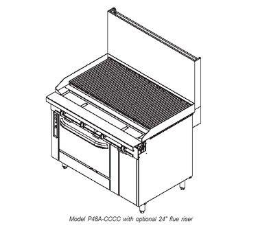 Southbend-P48D-CCCC-Platinum-Charbroiler-Heavy-Duty-Range-Match-Gas-48-cast-iron