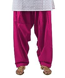 Neha Fashion Women's Regular Patiala Pant ( Dark Pink )