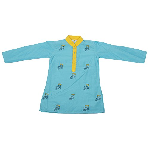 Little Aiva Little Stars Colorful Kurta Churidar Set For Kid (Multicolor)