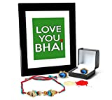 Tied Ribbons Rakhi Gifts For Younger Brother Combo (Finest Rakhi with Cufflinks and Photo Frame 27cm x 22cm )