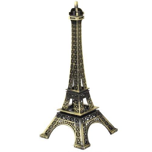 Eiffel Tower Miniature Model Decoration 18cm High Paris Bronze Tone