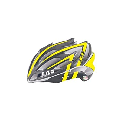 Las Victory Mens Cycle Helmet - Black/ Fluro Yellow from Las