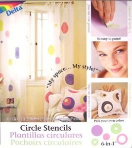 Delta Polka Dot Circle Wall Stencils for Polka Dot Theme Kids Room Wall Mural - 1