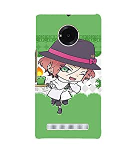 EPICCASE Girl with Candy in Hand Mobile Back Case Cover For YU YUNIQUE (Designer Case)