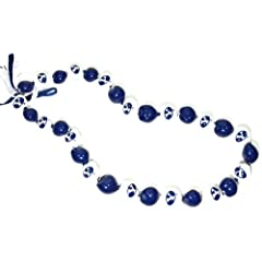 Buy NCAA Brigham Young Cougars Go Nuts Kukui Nut Lei Necklace by Style Pasifika