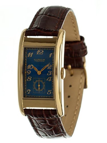Circa Men's Rectangular Watch Blue And Gold CT125T [Watch] футболка circa fortress black