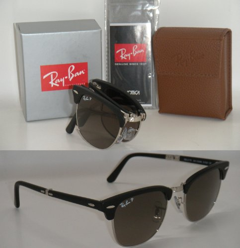 64619b6f272 Ray Ban Folding Clubmaster Rb 2176 901sm8 51mm Matte Black Polarized Grey  Gradient