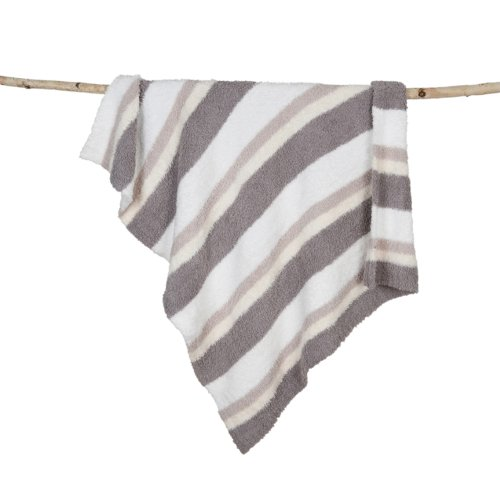 Barefoot Dreams Multi Stripe Stroller Blanket, White/Stone/Cream/Dove