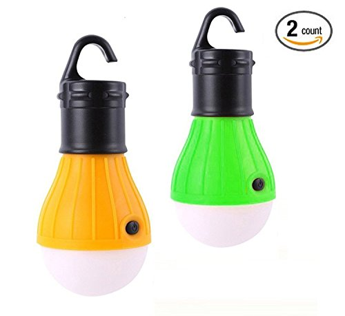 2 Pack LED Lantern for Camping Lights,SlimK Night Lamp Emergency Tent Bulb,Portable,Battery Powered Outdoor and Indoor Portable LED Tent Light Lamp Lantern for Hiking,Camping,Emergencies,Home (Light Bulb For Lantern compare prices)