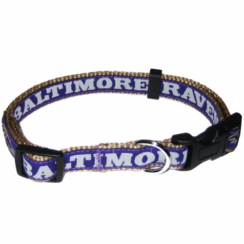 Pets First NFL Baltimore Ravens Collar, Large at Amazon.com