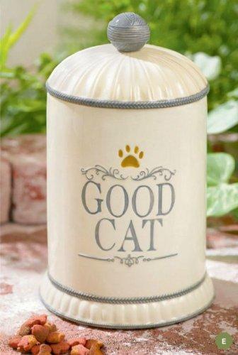 Grasslands Road Gift Boxed Good Cat Ceramic Treat Jar, 9-Inch