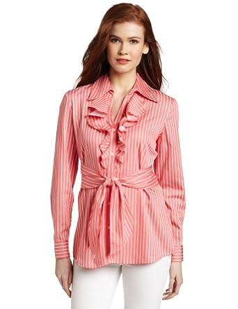 Jones New York Women 39 S Button Front Shirt With Tie Front
