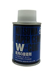 Mitsuwa paper cement W Court (both sides coated) round can HTRC3 250cc [] (japan import)