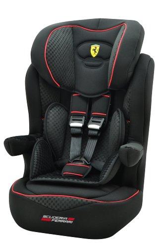 Ferrari 102-124-156 - Seggiolino auto i-max SP Isofix, Gran Tourismo, gruppo 1/2/3, 9 - 36 kg, certificazione ECE, colore: Nero