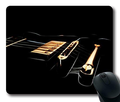 Gaming Mouse Pad Comfortable Black Electric Guitar Desktop Laptop Mouse Pads