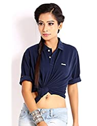 Skatti Pure Cotton Navy Regular Fit Polo