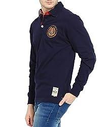 FILA Blue Cotton Polo T-Shirt (Small)