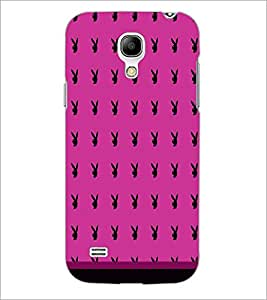 PrintDhaba Play Boy pattern D-1763 Back Case Cover for SAMSUNG GALAXY S4 MINI (Multi-Coloured)