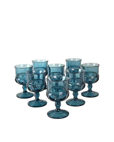 Patina Vie Vintage Set of 8 Petite Goblets, Blue