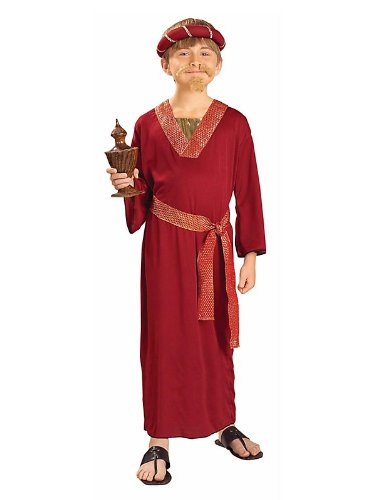 Biblical Times Burgundy Wiseman Child Costume, Large