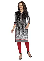 Comfortica Ethnicwear Women's Unstitched Kurti Fabric Multi-Coloured Free Size (SandhyaKala299)