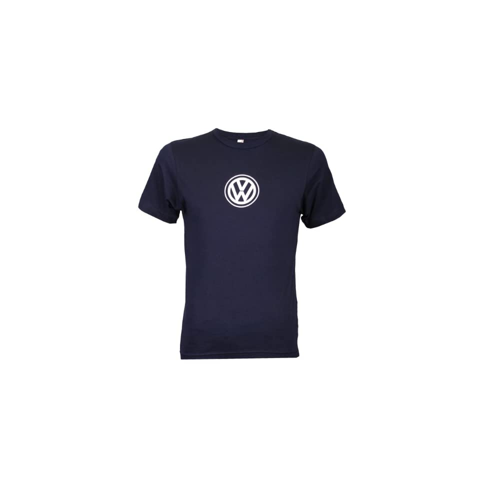 Genuine Volkswagen Mens Anywhere Tee  Navy  Size Small