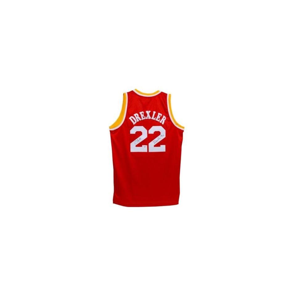 c05b78b88 Signed Clyde Drexler Jersey Rockets Adidas Psa dna  p96102 Autographed NBA  Jerseys