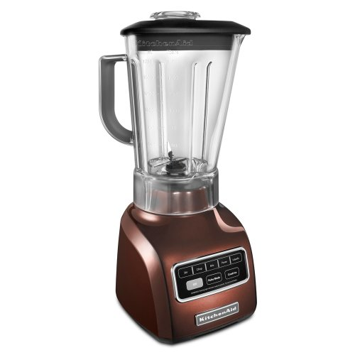 KitchenAid KSB650ER 5-Speed Blender with Die Cast Base and 56-oz. BPA-Free Pitcher, Espresso