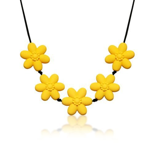 Siliconies Flower Necklace (Teething/Nursing) - Sunflower Yellow - 1